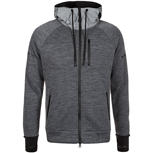 adidas Damen Standard 19 Daybreaker Trainingskapuzenjacke Trainingsjacken, grau/schwarz, XS-30/32
