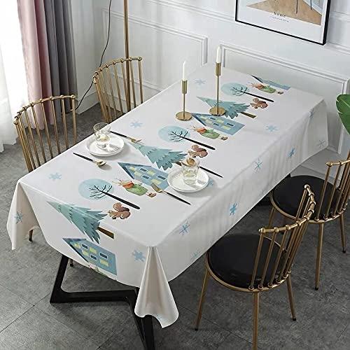 sans_marque Paño de mesa, cubierta de mesa, cubierta de mesa, paño de mesa simple, tapete de mesa adecuado para decoración de cocina casera 140* 180CM