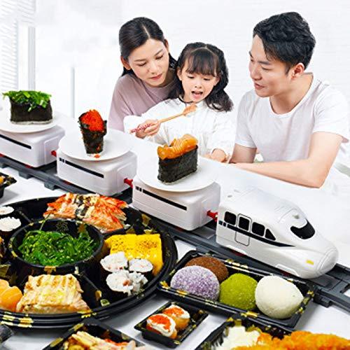 YUY Juguete De Sushi De Cinta Transportadora para El Hogar, Tren De Juguete para Niños Pequeños, Mesa Giratoria De Banda Transportadora De Oruga Eléctrica