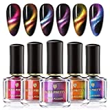 BORN PRETTY Nail Polish Set Magnetic Cat Eye Chameleon Nails Polish 3D Gorgeous Fingers 6ml 6 Bottles Set Need Magnetic Stick (Not Included)