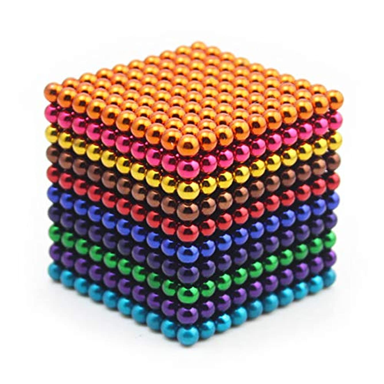 RLRY Upgraded 1000 Pieces 3 MM Colorful Magnets Sculpture Building Blocks Toys for Intelligence Development and Stress Relief