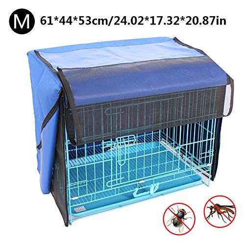 winnerruby Cubierta de La Jaula del Perro,Fundas para Perreras,Cubierta de La Perrera del Perro,Cubierta Resistente Duradera Resistente Al Agua del Mosquitero -S/M/L/XL