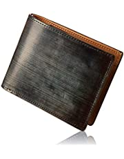 GLEVIO 財布 一流の財布職人が作る 本革 ブライドルレザー 二つ折り財布 メンズ 小銭入れ付き YKK