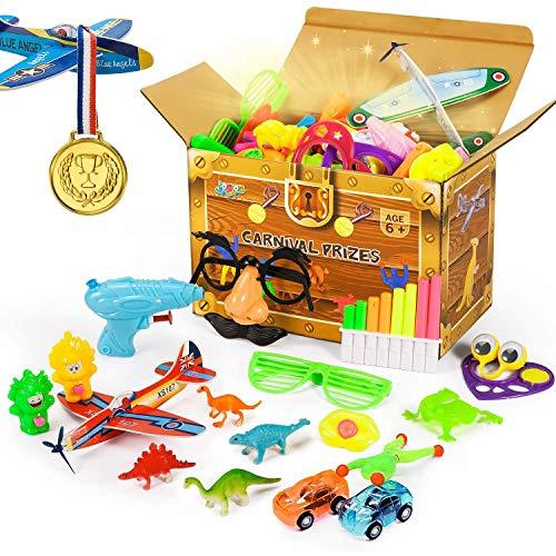 Joyjoz Regalini Festa Bambini 120PCS Pasqua Regali Pignatta Compleanno Bambini Bomboniere per Feste Forniture Borse Premio Scuola di Carnevale, Pinata, Articoli per Feste