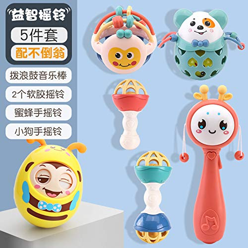 Lowest Prices! DishyKooker Baby Rattles Early Educational Infant Safe Hand Bell Tumbler Toy Rattle 5...