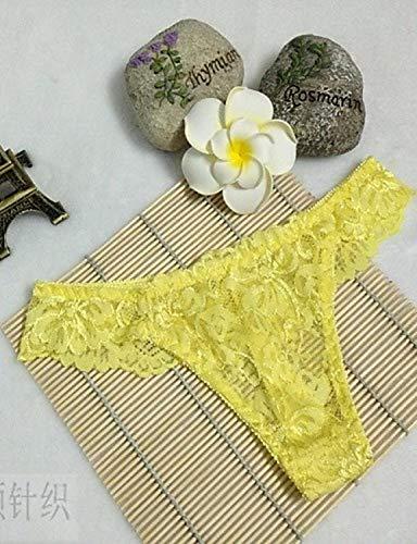 Tangas sexy amarillos para mujer