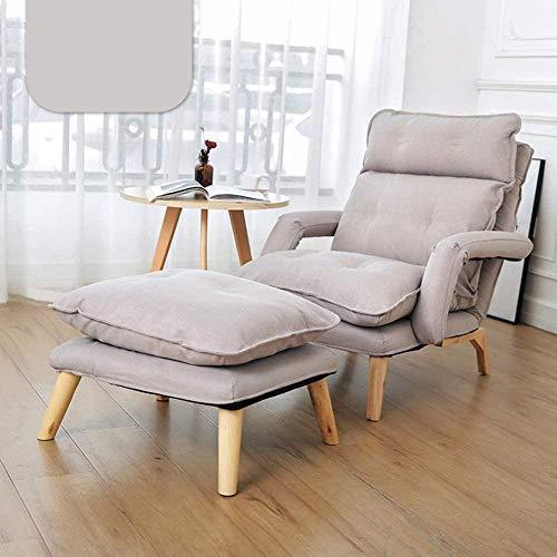 Sillón de estilo japonés simple perezoso sofá pequeño para sala de estar con pedales utilizado en espacios compactos, dormitorio, balcón, sillón reclinable