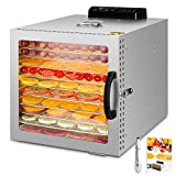 Food Dehydrator, 10 Layers Commercial Stainless Steel Fruit Dehydrator, 1000W...
