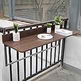 Ailj Table Pliante Murale, Table Flottante Murale De Bar Familial Moderne Balustrade De Balcon...