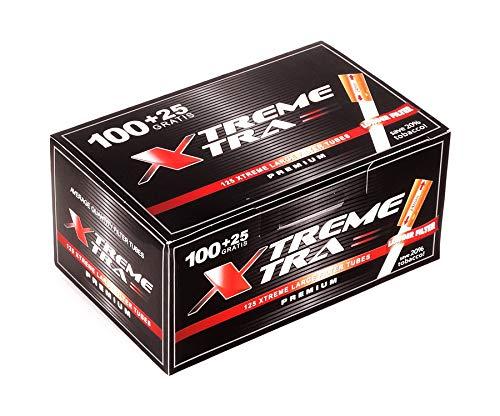 XTREME XTRA Zigarettenhülsen mit extra langem 24 mm Filter, 125 Hülsen pro Packung 40 Boxen (5000 Hülsen)