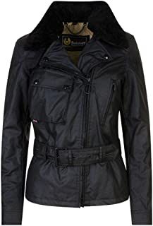 Belstaff Women's Sammy Shearling Collar Wax Jacket Black
