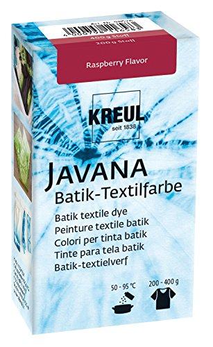Kreul 98526 - Javana Batik Textilfarbe, zum Färben von Textilien mit der Shibori Technik, 70 g Farbpulver in Raspberry Flavor