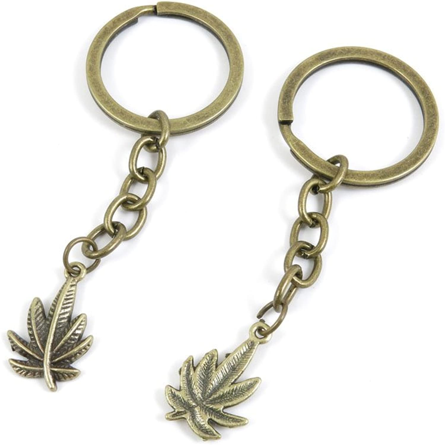 230 Pieces Fashion Jewelry Keyring Keychain Door Car Key Tag Ring Chain Supplier Supply Wholesale Bulk Lots C7IC4 Leaves Leaf
