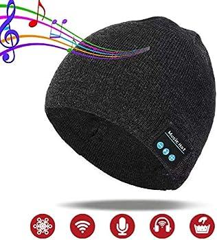 Pardecor Wireless Beanie Hat with Bluetooth Headphones