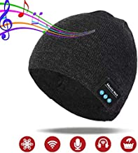Pardecor Wireless Bluetooth Beanie Hat, Headphones Knit Music Cap with Headset Speaker, Unique Christmas Tech Gag Gifts for Boyfriend/Him/Men/Teen Boys/Stocking Stuffers Best Friend Birthday in Winter