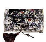Laogg Chinesische Schmuckschatulle,Holz, chinesische Aufbewahrungsbox, Kunsthandwerk, Aufbewahrungsbox für Schmuck, Dressing-Box, Schmuckschatulle,Chinesische Hochzeit Aufbewahrungsbox