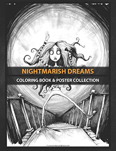 Coloring Book & Poster Collection: Nightmarish Dreams Watch Your Step Jane So I