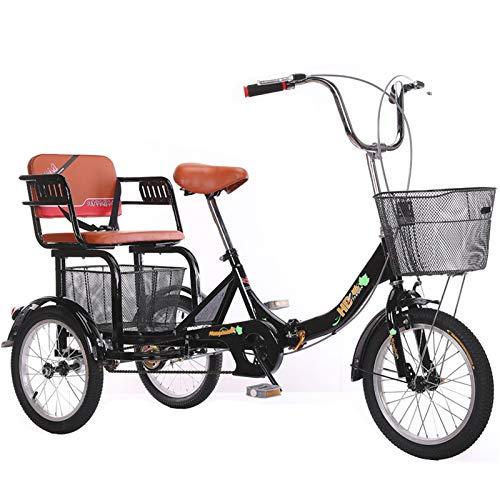 3 Rad Dreirad Für Erwachsene Klapprahmen Seniorenrad Lastenfahrrad 16 Zoll Dreirädrig Kreuzfahrräder Mit Groß Korb Zum Einkaufen Übung Männer Frauen Schwarz