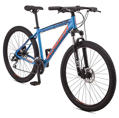 Schwinn Mesa 1 Adult Mountain Bike, 24 speeds, 27.5-inch Wheels, Small Aluminum Frame, Blue