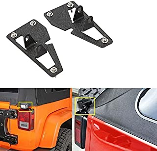 AUXMART Tail Light Mounting Brackets for LED Light Bar Fit Jeep Wrangler JK Unlimited 2007-2017 (1 Pair)