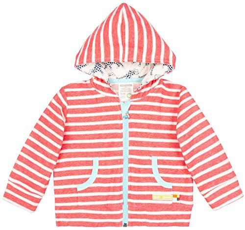 loud + proud Unisex Baby Kapuzenjacke, aus Bio Baumwolle, GOTS zertiziziert, Rot (Cayenne Cay), 92 (Herstellergröße: 86/92)