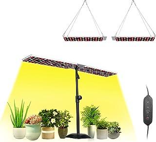 JCBritw 100W LED Grow Lights Panel برای گیاهان داخلی چراغ رشد با پایه کامل طیف با IR
