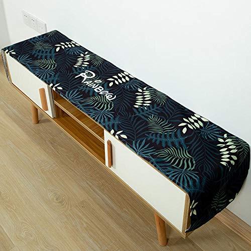 KWERSZB Rechteckige Couchtischdecke TV-Schrank Tischdecke Tischdecke Einfache Schuhschrank Staubtuch @ Rainbow_45 * 220cm
