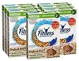 Nestlé FITNESS, Frühstücks-Flakes aus 57% Vollkorn, Frühstücks-Flakes mit weniger Zucker, mit Vitamin B2, B6, Calcium & Eisen, 7er Pack (7 x...