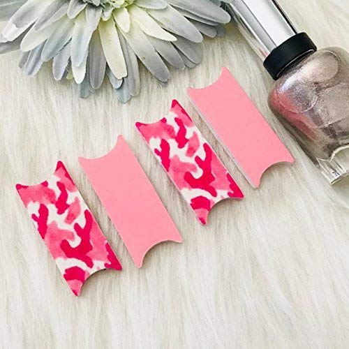 Pink Camouflage Camo File Wise Nail Files Original Design Beauty Files Manicure Wedding Shower Favor Bridesmaids Bride file DIY Nail Care Teen Girls Bridal Mini Nailfile Bachelorette Party Travel