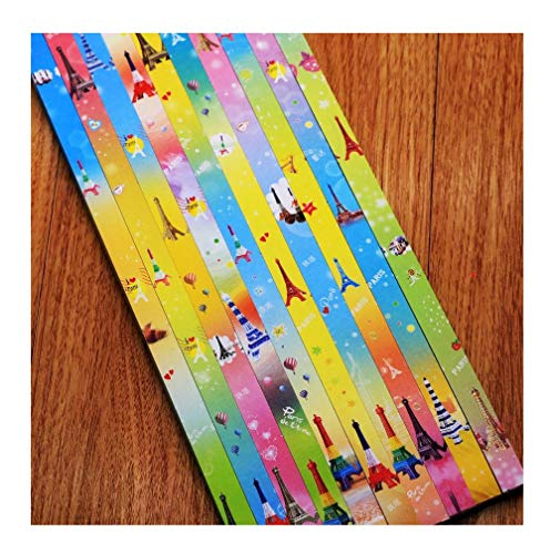 Estrella de cinco puntas de origami, papel de color estrella de la suerte, material de estrella de cinco puntas-A13
