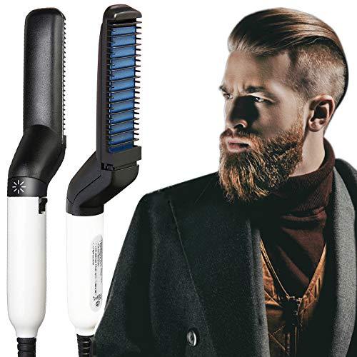 ZCFXGHH Alisador De Barba para Hombres, Peine Alisador De Barba Rápido para Hombres, Rizador De Cabello Multifuncional, Peine para Barba, para Cabello Muy Rizado, Modelado Flexible para Bricolaje