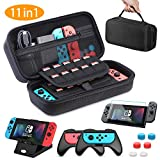Nintendo Switch Case HEYSTOP Nintendo Switch Carry Case Pouch Switch Cover Case with 2 Joy-con Grips and PlayStand for Nintendo Switch Screen Protector Thumb Grips Caps for Nintendo Switch Accessories