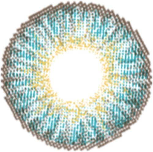Matlens – EOS Farbige Kontaktlinsen mit Stärke turquoise türkis Big eyes G-307 2 Linsen 1 Kontaktlinsenbehälter 1 Pflegemittel 50ml