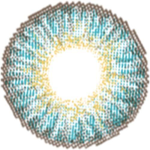 Matlens – EOS Farbige Kontaktlinsen ohne Stärke turquoise türkis Big eyes G-307 2 Linsen 1 Kontaktlinsenbehälter 1 Pflegemittel 50ml