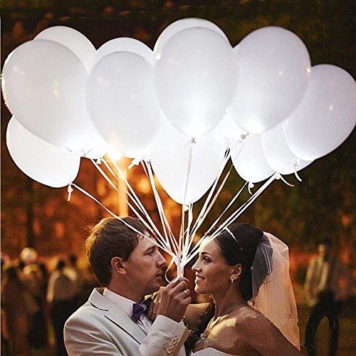 Luftballons Farbige Ballons Lighting Bunte Ballons Hochzeit Leuchtend Dekor für Hochzeiten Geburtstage Party Feiern Dekorationen Latex Ballon 25 Pcs über 24 Stunden Beleuchtung Zeit
