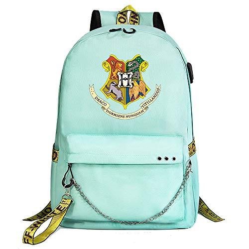 Mochila de Harry Potter, Mochila Informal para la Universidad, Insignia de Hogwarts...