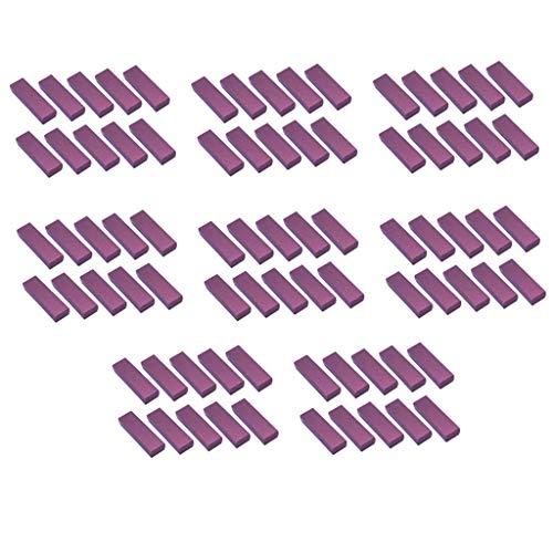 chiwanji 80 PiSet Cartón Papel Caja de Regalo de Caja de Joyería Púrpura - Rectángulo, 5x1.57x0.98 Pulgadas