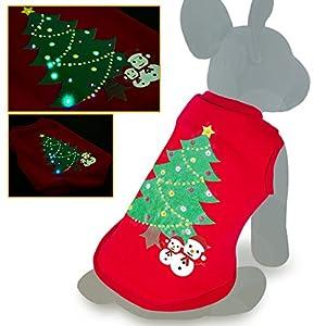 Oneisall Costume de Noël à LED pour chien et animal domestique