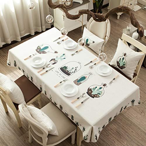 LQQ Tablecloth tafelkleed, kostbaar tafelkleed, afwasbaar en strijkvrij, hoogglans tafelkleed, geschikt voor thuis en keuken, decoratie in verschillende maten, tafelkleed, 2 kleuren