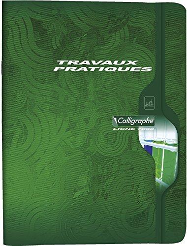 Calligraphe 7601C - Un cahier de travaux pratiques (gamme 7000 de Clairefontaine) 144 pages 24x32 cm grands carreaux 70g et pages unies 90g, couverture carte offset, couleur aléatoire
