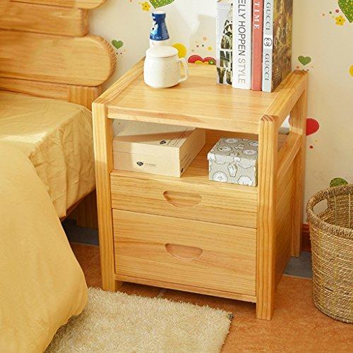 BOBE SHOP- Moderne eenvoudige nachtkastje met 2 laden, slaapkamer bed decoratie kasten, kleine mini-opbergkasten multifunctionele kluisjes