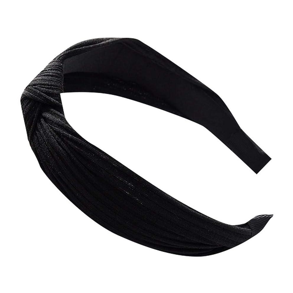 Caopixx Women Wide Stripes Cloth Cross Knot Hair Hoop Hairband Headband Hair Accessories