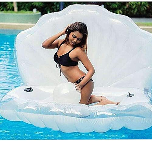 XMYNB Gigante Pearl Shell Pool Balsas Inflables Juguetes, Piscina de Verano Piscina Inflable Floatie Lounge Pool Toungers