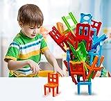 Watermelon Sillas y escaleras, juego familiar apilable, juego de equilibrio, juego de fiesta, juguete para apilar – Pile-Up Suspend juego familiar para niños (juego de 16 sillas)
