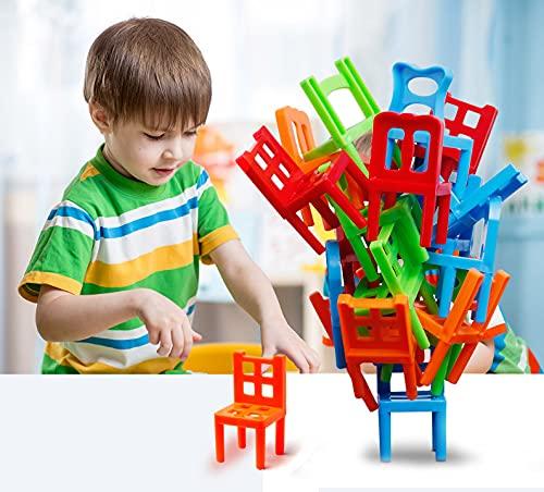 Watermelon Stühle und Leitern Familienspiel Stapeln Balance-Spiel, Party Favor Stapeln Spielzeug - Pile-Up Suspend Familienspiele für Kinder (16 Stühle Spielzeug Set)