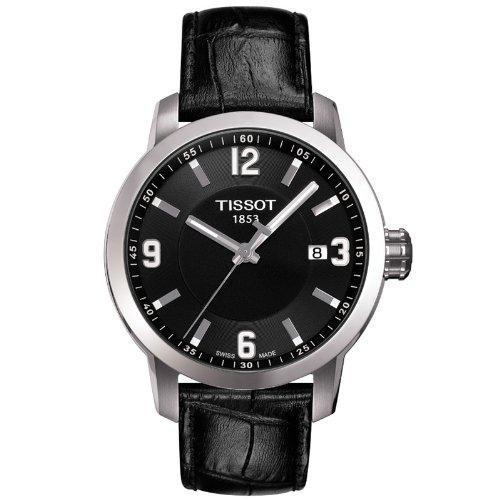 Tissot PRC 200 - Reloj (Reloj de pulsera, Masculino, Acero inoxidable, Acero inoxidable, Cuero, Negro)