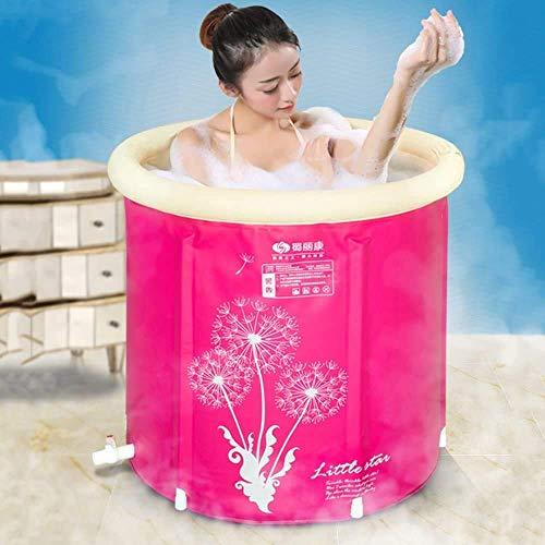 Gpzj Runde Form Badewanne, Fass Erwachsene Klapphalterung Badewanne Kunststoff Home Spa Badewanne Aufblasbare Badewanne Dickere Isolierung