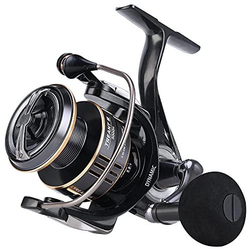 SeaKnight Treant III Carrete Giratorio de Agua Dulce 5.0:1 5.8:1 Carrete de Pesca de Carpas 5000 Arrastre máximo 29 lbs / 13 kg