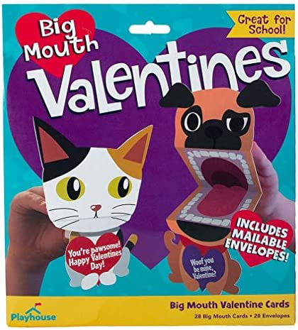 Playhouse Big Mouth Puppet Pets 28 Card Super Valentine Exchange Pack for Kids with Mailable product image