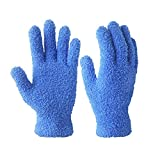 Evridwear Microfiber Auto Dusting Cleaning Gloves for Cars and Trucks, Dust Cleaning Gloves for House Cleaning, Perfect to Clean Mirrors, Lamps and Blinds (S/M)
